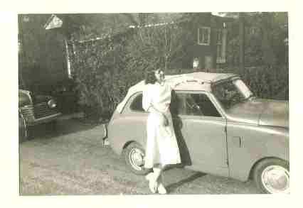 Ruth with her little car